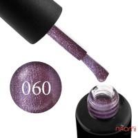 Гель-лак Naomi 060 Amethyst лілово-фіолетовий блискучий металік, 6 мл