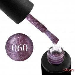 Гель-лак Naomi 060  Amethyst лилово-фиолетовый блестящий металлик, 6 мл
