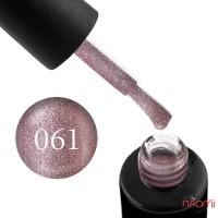 Гель-лак Naomi 061  Rose Stone  нежный розово-кремовый блестящий металлик, 6 мл