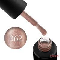 Гель-лак Naomi 062  Smaked Topoz кремово-бежевый блестящий металлик, 6 мл