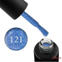 Гель-лак Naomi 121  Blue Sky тёмно голубой с шимерами, 6 мл