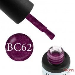Гель-лак Boho Chic BC 062 ягодные блестки на прозрачной основе, 6 мл