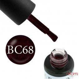 Гель-лак Boho Chic BC 068 виноградный с красными блестками, 6 мл