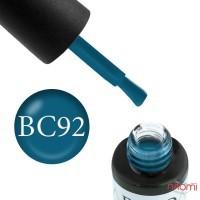 Гель-лак Boho Chic BC 092 лазурно-синий, 6 мл