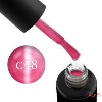 Гель-лак Naomi Cat Eyes С48 приглушено-рожевий, з перламутром, 6 мл