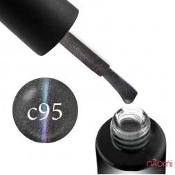 Гель-лак Naomi Cat Eyes 5D С95, фиолетовы блик, голубой, зеленый перелив с оттенками 6 мл