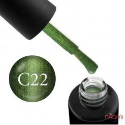 Гель-лак Naomi Cat Eyes С22 зеленый с шиммерами, 6 мл