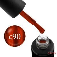 Гель-лак Naomi Cat Eyes С90 яркий терракотовый с оранжевым бликом, 6 мл