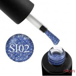Гель-лак Naomi Self Illuminated SI 02 эффектный синий с блестками и слюдой, 6 мл