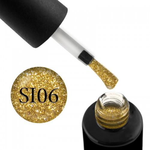 Гель-лак Naomi Self Illuminated SI 06 жовте золото з блискітками і слюдою, 6 мл, фото 1, 95.00 грн.