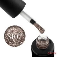 Гель-лак Naomi Self Illuminated SI 07 бронза з блискітками і слюдою, 6 мл