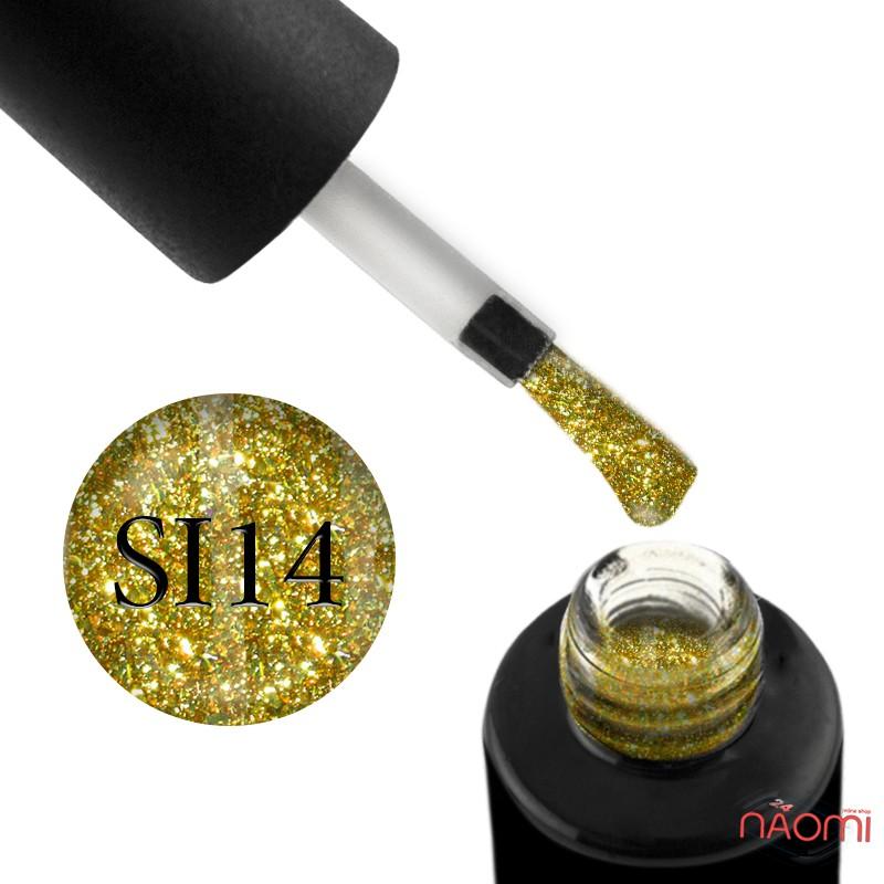 Гель-лак Naomi Self Illuminated SI 14  желто-салатовый, с блестками и слюдой, 6 мл, фото 1, 95.00 грн.