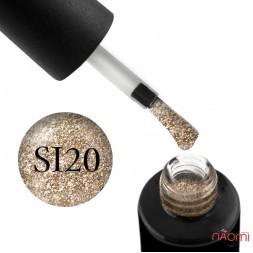 Гель-лак Naomi Self Illuminated SI 20 бронзово-золотистый, с блестками и слюдой, 6 мл