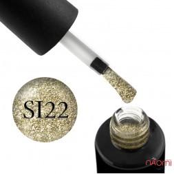 Гель-лак Naomi Self Illuminated SI 22 золотой, с блестками и слюдой, 6 мл