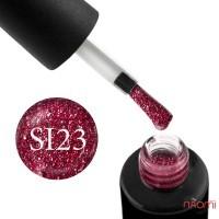 Гель-лак Naomi Self Illuminated SI 23 вишнево-червоний, з блискітками і слюдою, 6 мл