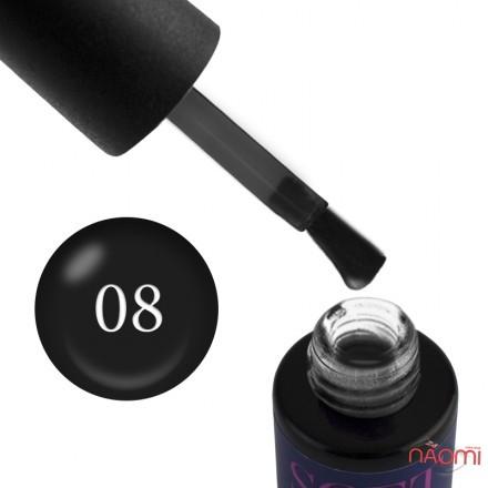 Гель-лак Naomi Soft Touch ST 08 черный, полупрозрачный, матовый, 6 мл, фото 1, 110.00 грн.