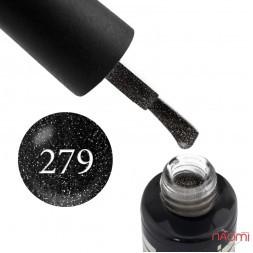 Гель-лак Oxxi Professional 279 чорний з переливними шимерами, 10 мл