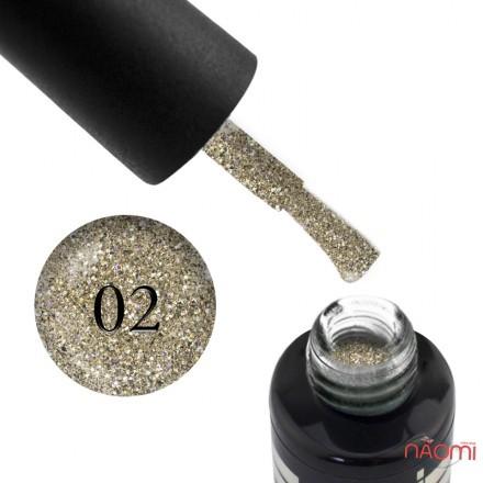 Гель-лак Oxxi Professional Star Gel 002 мягкий золотой со слюдой и переливающимися блестками, 10 мл, фото 1, 140.00 грн.