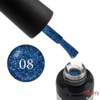 Гель-лак Oxxi Professional Star Gel 008 синий со слюдой и переливающимися блестками, 8 мл