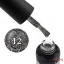 Гель-лак Oxxi Professional Star Gel 012 графитово-серый со слюдой и переливающимися блестками, 10 мл, фото 1, 140.00 грн.