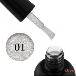Гель-лак Starlet Professional Glitter Shine Gel № 001 серебристые блестки и слюда, 10 мл