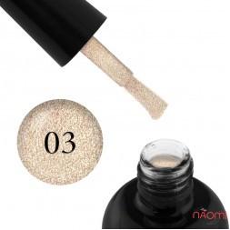 Гель-лак Starlet Professional Glitter Shine Gel № 003 светлые золотистые блестки и слюда, 10 мл