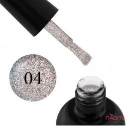 Гель-лак Starlet Professional Glitter Shine Gel № 004 серебристые и голографические блестки с, 10 мл