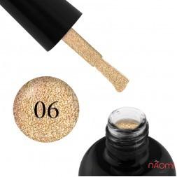 Гель-лак Starlet Professional Glitter Shine Gel № 006 золотистые блестки и слюда, 10 мл