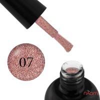 Гель-лак Starlet Professional Glitter Shine Gel № 007 рожеві блискітки і слюда, 10 мл