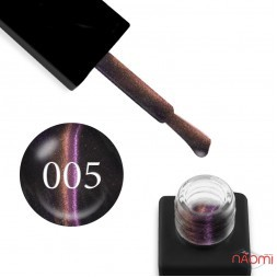 Гель-лак Trendy Nails 5D Space № 005 розово-фиолетово-золотистый блик, 8 мл