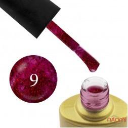 Гель-лак Yo nails I am Red № 09 малиновий з блискітками, напівпрозорий, 8 мл