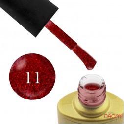 Гель-лак Yo nails I am Red № 11 червоний з блискітками, напівпрозорий, 8 мл