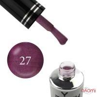 Гель-лак You POSH 027 бордово-фиолетовый с шиммером и легким перламутром, 9 мл