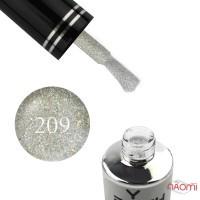 Гель-лак You POSH 209 серебристый айвори с цветными переливающимися блестками и слюдой, 9 мл