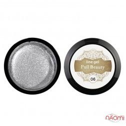 Гель Паутинка Full Beauty Line Gel 06, цвет серебро, 5 мл