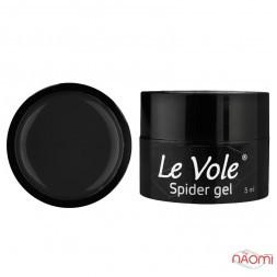 Гель Павутинка Le Vole Spider Gel 02, колір чорний, 5 мл