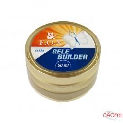 Гель-желе F.O.X. строительный Gele Builder Gel Clear, прозрачный, 50 мл
