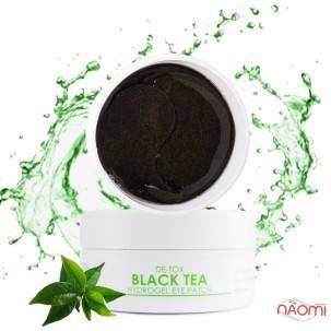 Патчи гидрогелевые под глаза Med B Black Tea Hydrogel Eye Patch с экстрактом чёрного чая, 60 шт