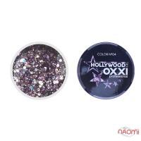 Глиттерный гель в баночке OXXI Hollywood 04 сиреневый с голографическим эффектом, 5 г