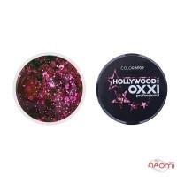 Глиттерный гель в баночке OXXI Hollywood 09 розовая малина, 5 г