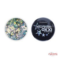 Глітерний гель в баночці OXXI Hollywood 10 голографік з ефектом русалка, 5 г