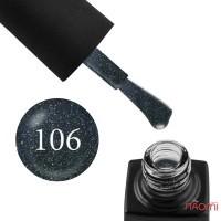 Гель-лак GO 106 глубокий асфальтово-серый, с цветными шиммерами, 5,8 мл