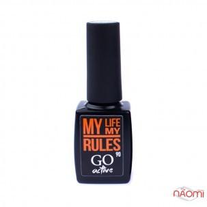 Гель-лак GO Active 090 My Life My Rules оранжевый, 10 мл