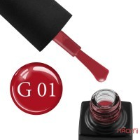 Гель-лак GO Active Glass Effect 01 бордовый, 10 мл