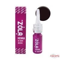Хна для бровей ZOLA Henna 06 Dark Brown, 10 г