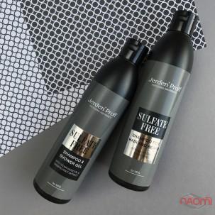 Мужской шампунь для волос и бороды Jerden Proff, безсульфатный с алое и протеинами шелка, 1000 мл