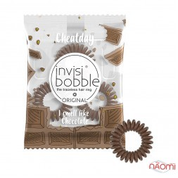 Резинка-браслет для волос Invisibobble ORIGINAL Crazy For Chocolate, цвет шоколад, 35х10 мм, 3 шт.