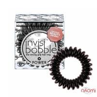 Резинка-браслет для волос Invisibobble POWER Luscious Lashes, цвет графит, 40х25 мм, 3 шт.