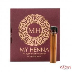 Хна для бровей Alisa Bon My Henna Light Brown светло-коричневая, 2 г