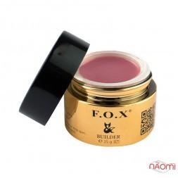 Камуфлюючий гель F.O.X Camouflage builder gel UV + LED 001 бузково-рожевий, 15 мл